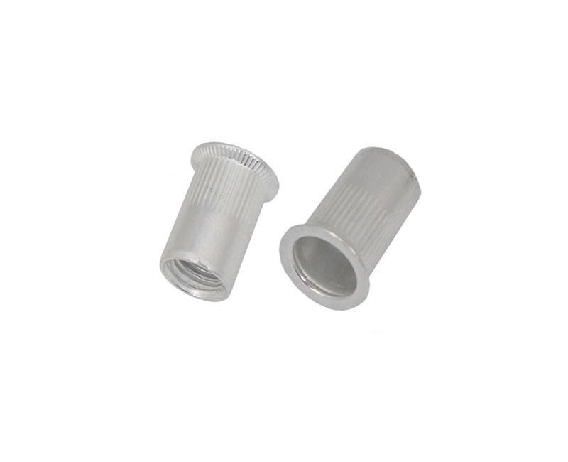 Aluminium Countersunk Head Round knurled Body rivet nut